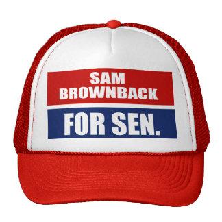 SAM BROWNBACK FOR GOVERNOR TRUCKER HAT