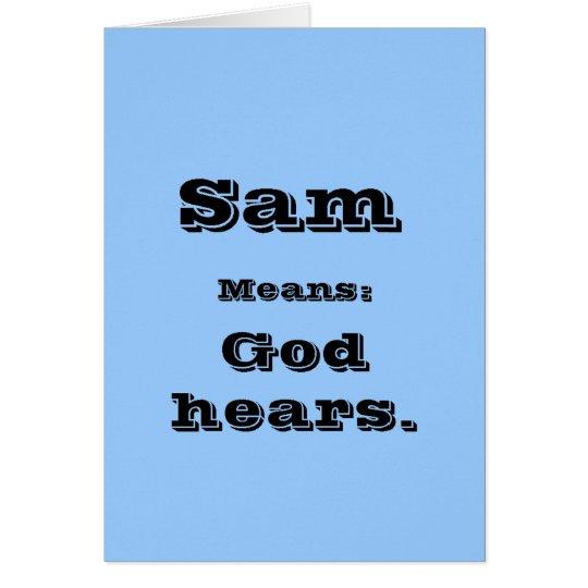 Sam Card