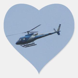 SAM Ecureuil Helicopter Heart Sticker