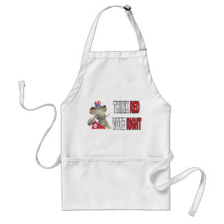 Sam Elephant Think Red Vote Right Aprons