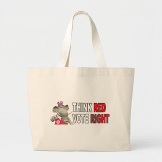 Sam Elephant Think Red Vote Right Tote Bags