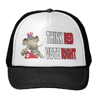 Sam Elephant Think Red Vote Right Hat