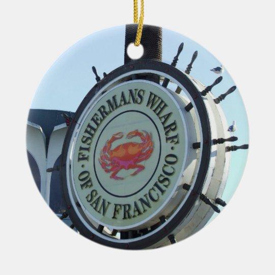 Sam Francisco Fishermans Wharf Ornament