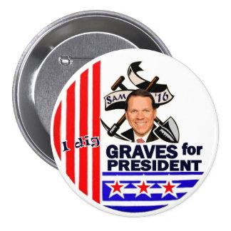 Sam Graves for President 2016 Pinback Button