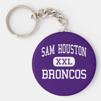 Sam Houston - Broncos - High - Lake Charles Keychain