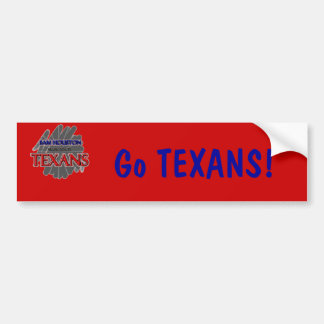 Sam Houston High School Texans - Arlington, TX Bumper Sticker