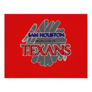 "Sam Houston High School Texans - Arlington, TX 4.25"" X 5.5"" Invitation Card"
