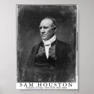 Sam Houston, President of Texas Poster