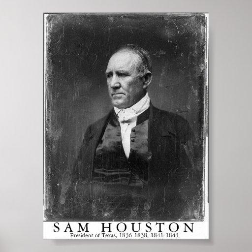 Sam Houston, presidente de Tejas Posters
