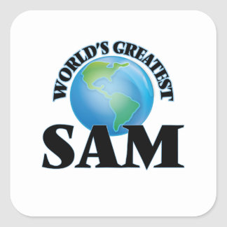Sam más grande del mundo pegatina cuadradas