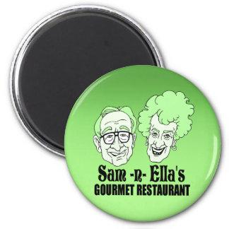 Sam -n- Ella's Restaurant 2 Inch Round Magnet