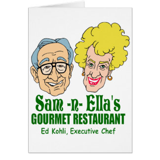 Sam -n- Ella's Restaurant Card