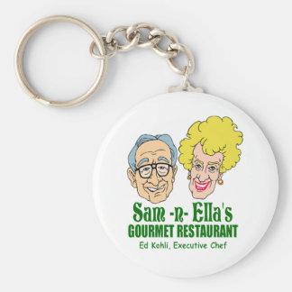 Sam -n- Ella's Restaurant Basic Round Button Keychain