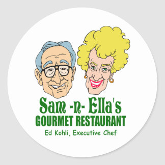 Sam -n- Ella's Restaurant Classic Round Sticker
