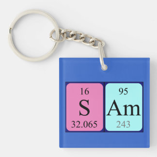 Sam periodic table name keyring keychain