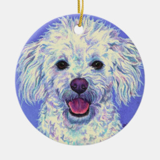 """Sam"" - Poodle Mix - Ornament #2"