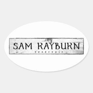 Sam Rayburn Reservoir Oval Sticker