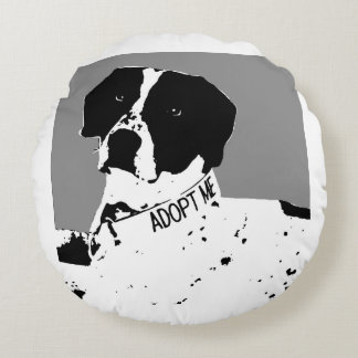 SAM-Rescue Me Dog Blanket Round Pillow