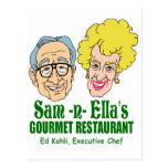 Sam - restaurante de la n Ella Tarjetas Postales
