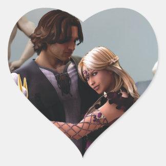 Sam & Shalee Heart Sticker