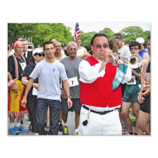 Sam the Bugler at Belmont's 5k Run Photograph