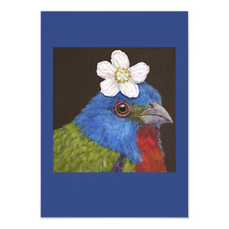 Sam the painted bunting flat card