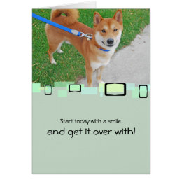 Sam The Smiling Shiba Inu Card