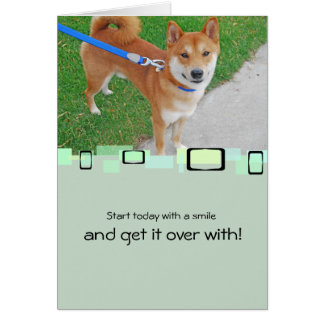 Sam The Smiling Shiba Inu Stationery Note Card
