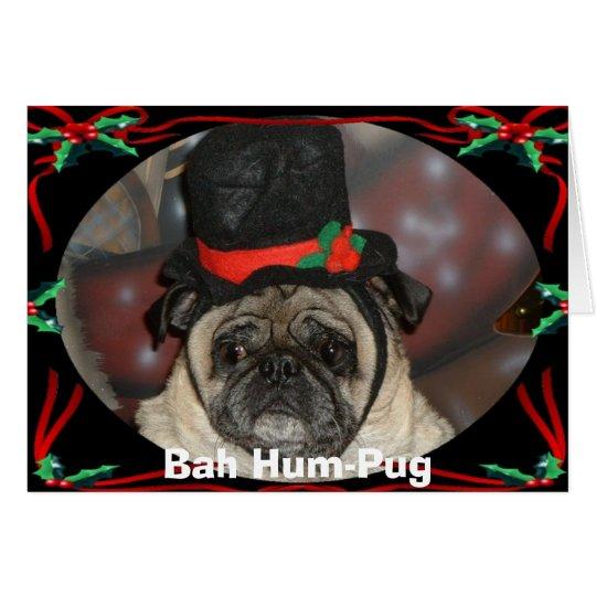 Sam xmas, Bah Hum-Pug Card
