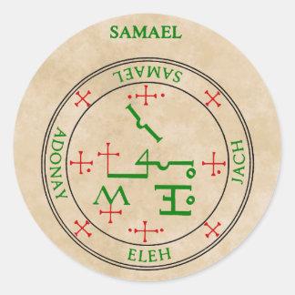 samael classic round sticker