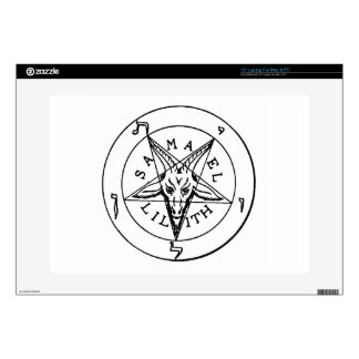 "Samael Lilith Goat Pentagram 15"" Laptop Decals"