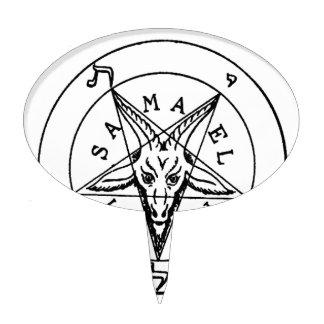 Samael Lilith Goat Pentagram Cake Topper