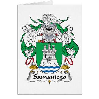 Samaniego Family Crest Card