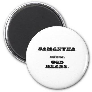 Samantha 2 Inch Round Magnet