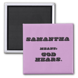 Samantha 2 Inch Square Magnet