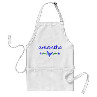 Samantha Blue Butterfly Apron