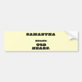 Samantha Pegatina Para Auto