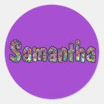 Samantha Classic Round Sticker