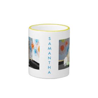 Samantha - Golden Retriever -1 Ringer Coffee Mug