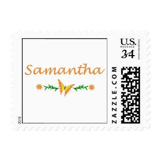 Samantha mariposa anaranjada