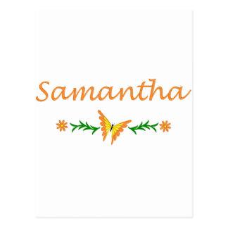 Samantha mariposa anaranjada postales