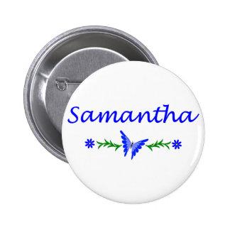 Samantha mariposa azul pin