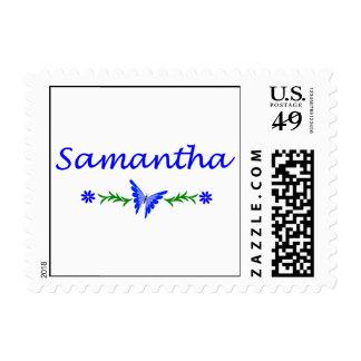 Samantha mariposa azul