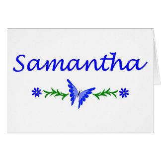 Samantha mariposa azul felicitacion