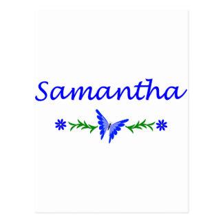 Samantha mariposa azul postales