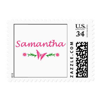 Samantha mariposa rosada