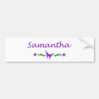Samantha (Purple Butterfly) Bumper Sticker