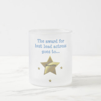 SAMANTHA: The Award For Best Lead Actress 10 Oz Frosted Glass Coffee Mug