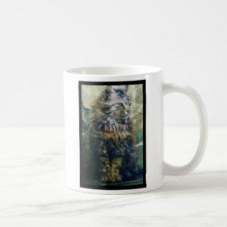 Samantha the Cat Artwork Classic White Coffee Mug