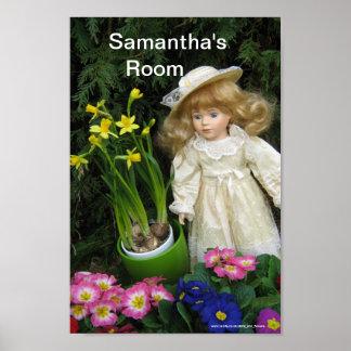 Samantha's room poster